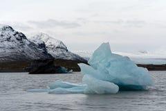Eisberge vor einem großen Gletscher lizenzfreies stockbild