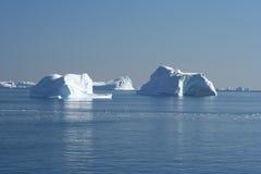 Eisberge vor Grönland Stockfotos