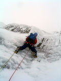 Eisbergsteiger in Schottland Lizenzfreies Stockbild