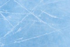 Eisbeschaffenheit auf einer Eisbahn Stockbild