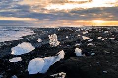 Eisblöcke auf Diamond Beach, Island Stockfoto
