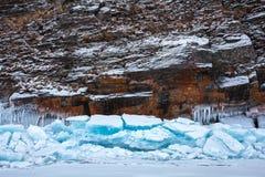 Eisblöcke und -felsen Stockfoto