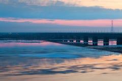 Eisblöcke winken geverwischt auf Fluss Amur, Russland zu Lizenzfreies Stockbild