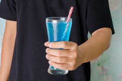 Eisblaugetränk Lizenzfreies Stockfoto