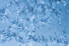 Eisblumen auf Glas Lizenzfreies Stockfoto