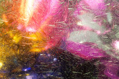 Eisblumen im Fenster Lizenzfreie Stockbilder
