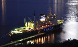 Eisbrecher Krasin, Vladivostok Lizenzfreie Stockfotos