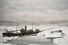 Eisbrecher zum Norden Stockbild