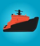Eisbrechervektorillustration Atomschiff Arktisches Schiff Lizenzfreies Stockfoto