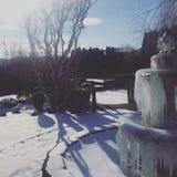 Eisbrunnen Stockfoto