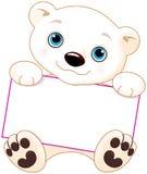 Eisbärzeichen Stockfoto