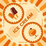 Eiscreme-Aufkleberdesign Lizenzfreie Stockfotos