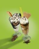 Eiscreme-Cup chocolat Lizenzfreie Stockbilder