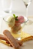 Eiscreme in der Glasschüssel Lizenzfreies Stockfoto