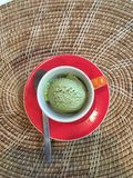 Eiscreme des grünen Tees Stockfoto