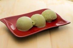 Eiscreme des grünen Tees Stockbilder
