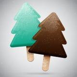 Eiscreme des Weihnachten zwei Stockfoto