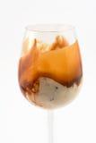 Eiscreme in einem hohen Glas Lizenzfreies Stockbild