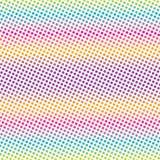 Eiscreme-Farbstreifen-Art-Schmutz-Dots Vector Radial Texture Background-Muster stock abbildung