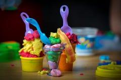 Eiscreme gemacht von Spiel Doh Lizenzfreies Stockbild