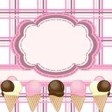 Eiscreme-Grußkarte Stockbilder