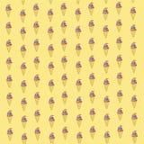 Eiscreme-Hintergrund-Muster Stockfotos