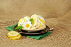 Eiscreme mit Bananen Stockbilder