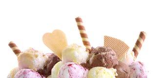Eiscreme mit Dekoration Stockfoto