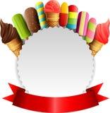 Eiscreme mit Hintergrund stock abbildung
