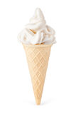 Eiscreme mit Kegel Stockbild
