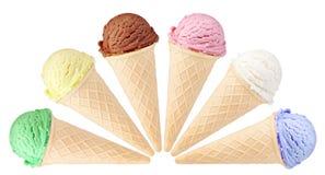 Eiscreme mit Kegel Stockbilder