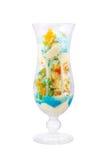 Eiscreme mit Mandarine im Glas Lizenzfreie Stockbilder