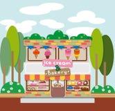 Eiscreme und Bäckerei-Café Lizenzfreies Stockfoto