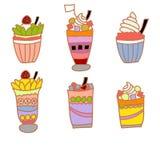 Eiscreme- und Fruchtsaftvektor Lizenzfreie Stockfotos