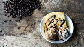 Eiscreme und Kuchen Lizenzfreies Stockbild