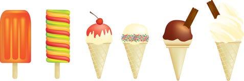 Eiscreme und Lutschbonbon Stockbild