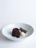 Eiscreme und Pudding Stockfotografie