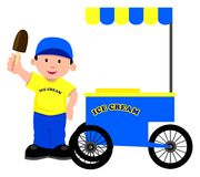 Eiscreme-Verkäufer Lizenzfreies Stockfoto