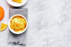 Eiscreme von der orange Frucht Lizenzfreie Stockfotos