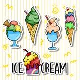 Eiscreme von einfachem stockfoto