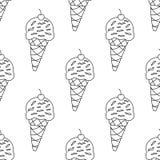 Eiscremekegel über weißem Hintergrund Stockfoto