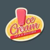 Eiscremelogo mit Eiscreme Lizenzfreie Stockfotografie