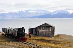 Eisembahn viejo en Ny Alesund (Spitsbergen) Fotografía de archivo