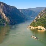 Eisen-Gatter Donau Stockfotografie