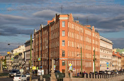 Eisen-Haus in Sadovaya-Straße, St Petersburg Stockfotografie