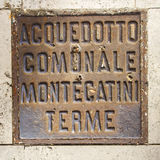 Eisen-Luke Montecatini Terme Stockfotografie