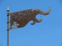 Eisen-Markierungsfahne Stockfoto
