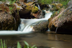 Eisen-Nebenflusswasserfall lizenzfreies stockbild