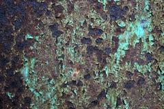 Eisen oxidierte Schicht grüne Farbe lizenzfreies stockbild