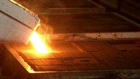 Eisen, Stahleinschmelzen stock footage